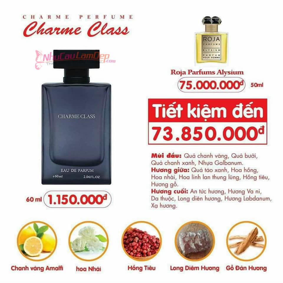 Charme - Class 60ml - Nước hoa nam