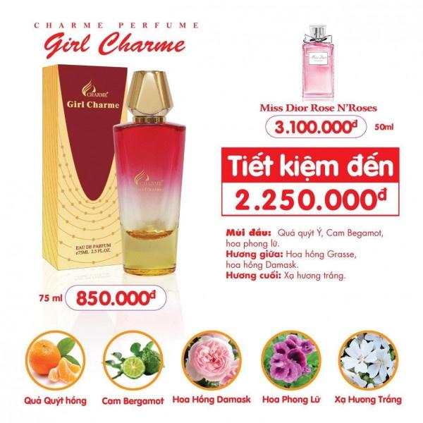 Charme - Girl Charme 75ml - Nước hoa nữ
