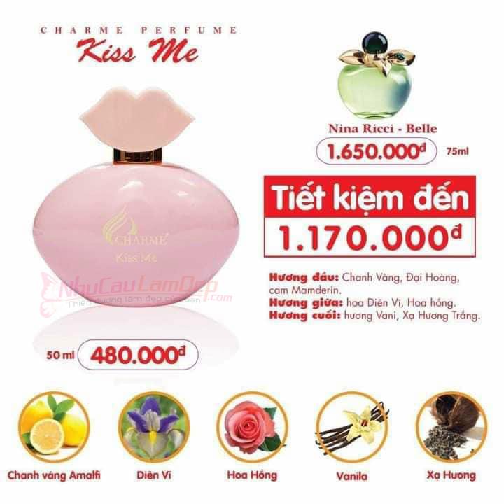Charme - Kiss me 50ml - Nước hoa nữ