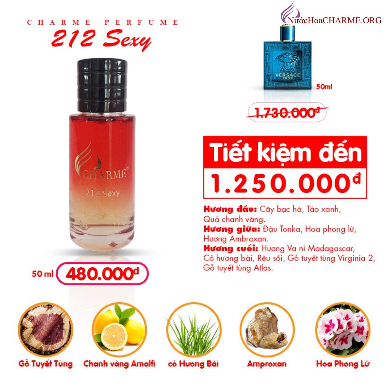 Charme - 212 Sexy 50ml - Nước hoa nam