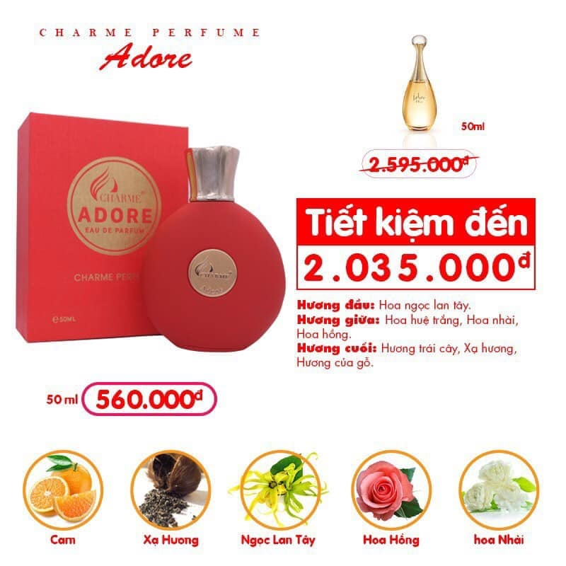 Charme - Adore 50ml - Nước hoa nữ