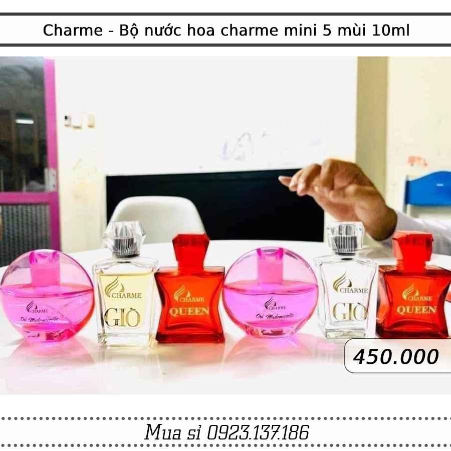 Charme - Bộ nước hoa charme mini 5 mùi 10ml