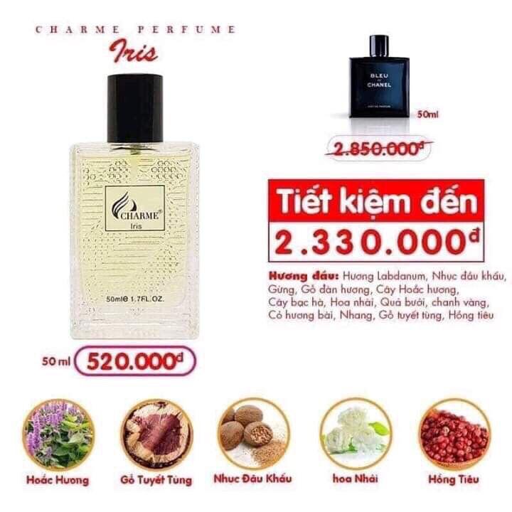 Charme - Iris 50ml - Nước Hoa Nam
