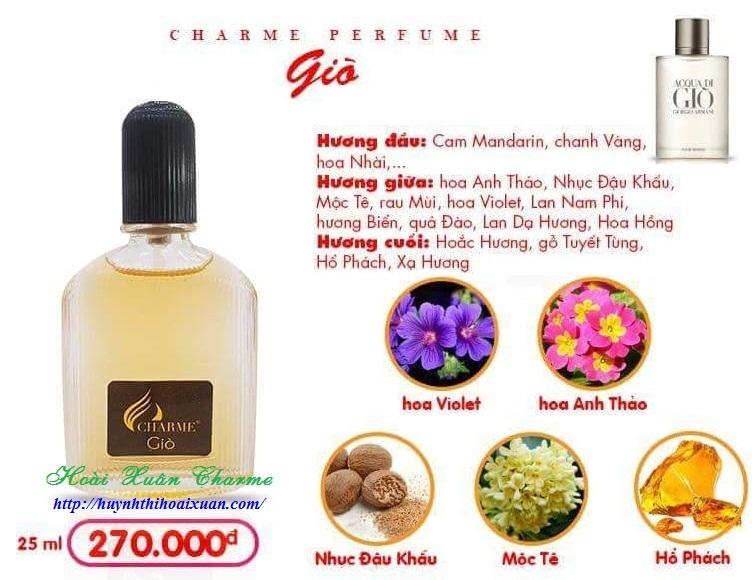 Charme - Giò 80ml - Nước hoa nam