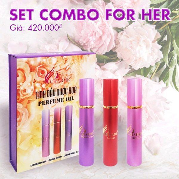 Charme - Set tinh dầu nữ 3 mùi - Nước hoa nữ