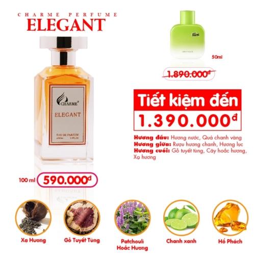 Charme - Elegent 100ml - Nước hoa nam độc quyền