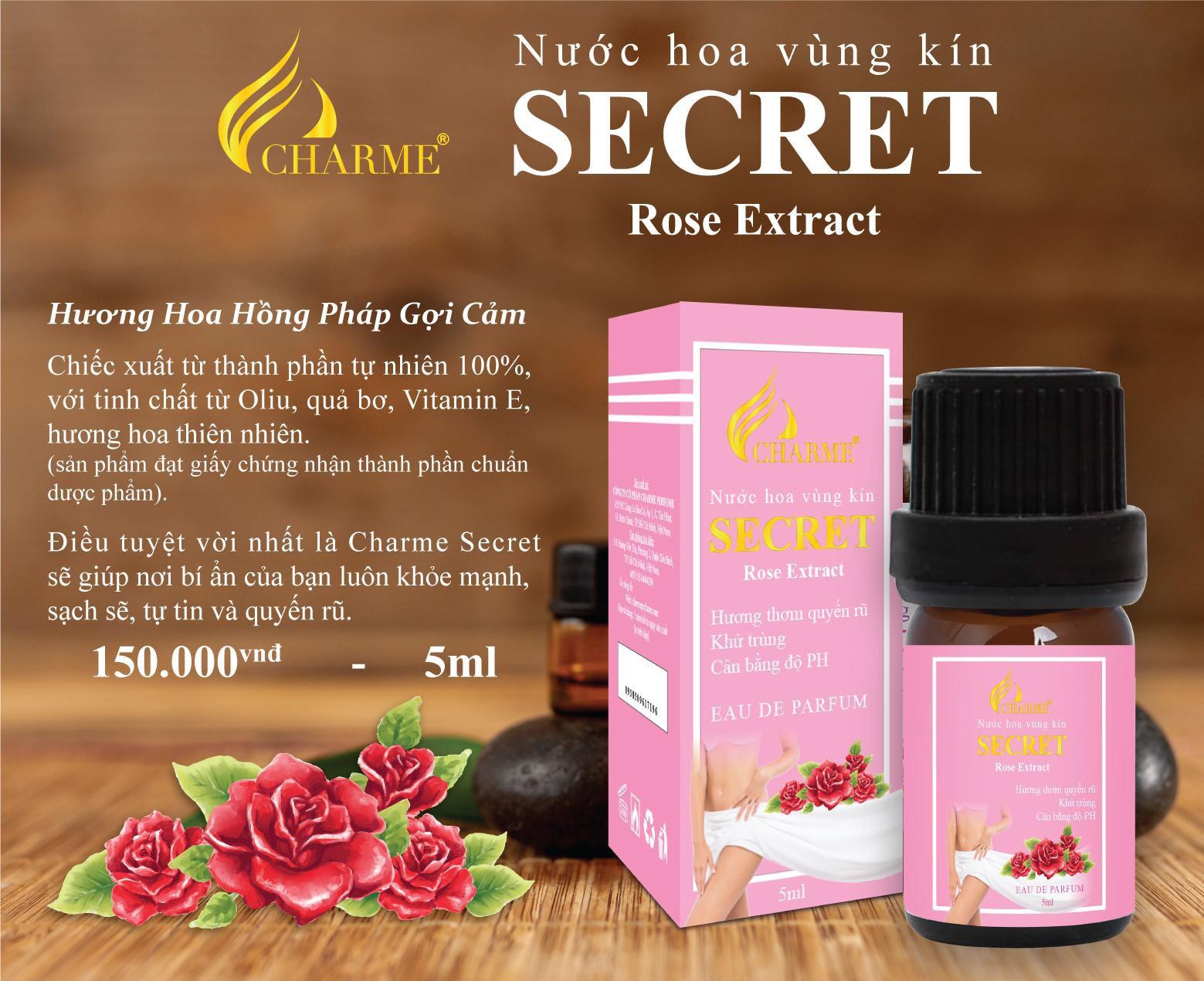 Charme - Secret Rose 5ml - Nước hoa vùng kín