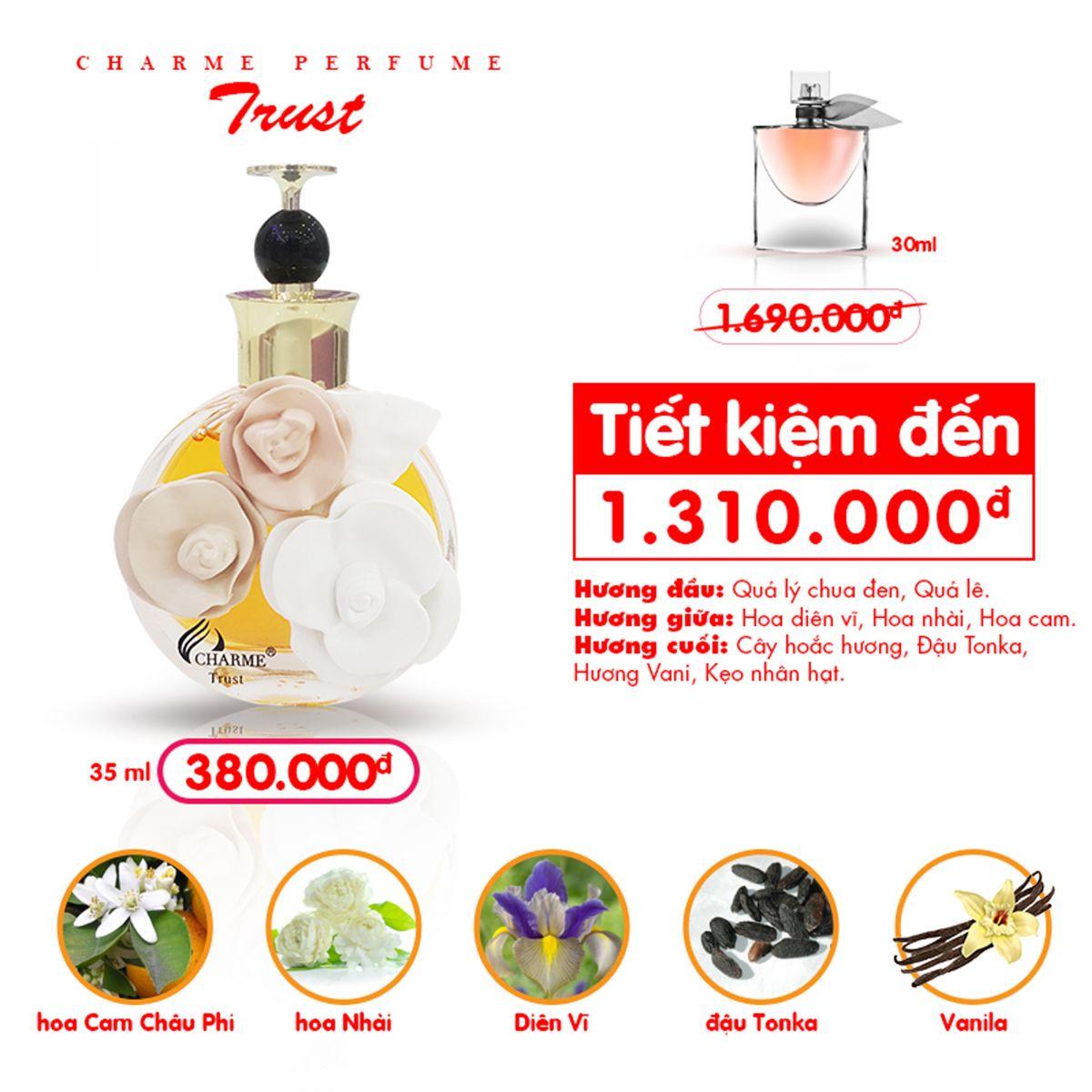 Charme - Trust 50ml - Nước hoa nữ