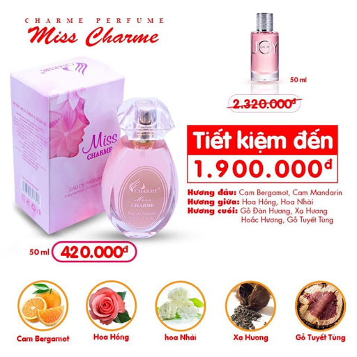 Charme - Miss Charme 50ml - Nước hoa nữ
